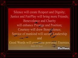 Silence respect